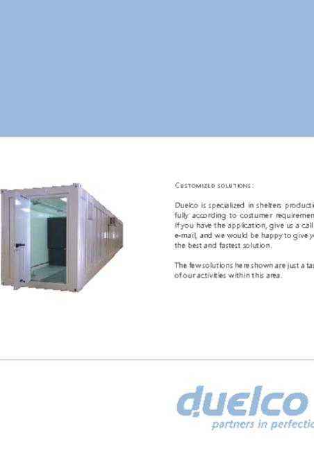 Duelco kabine housing brochure