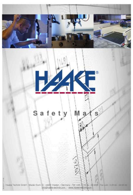 Haake safety mat catalogue