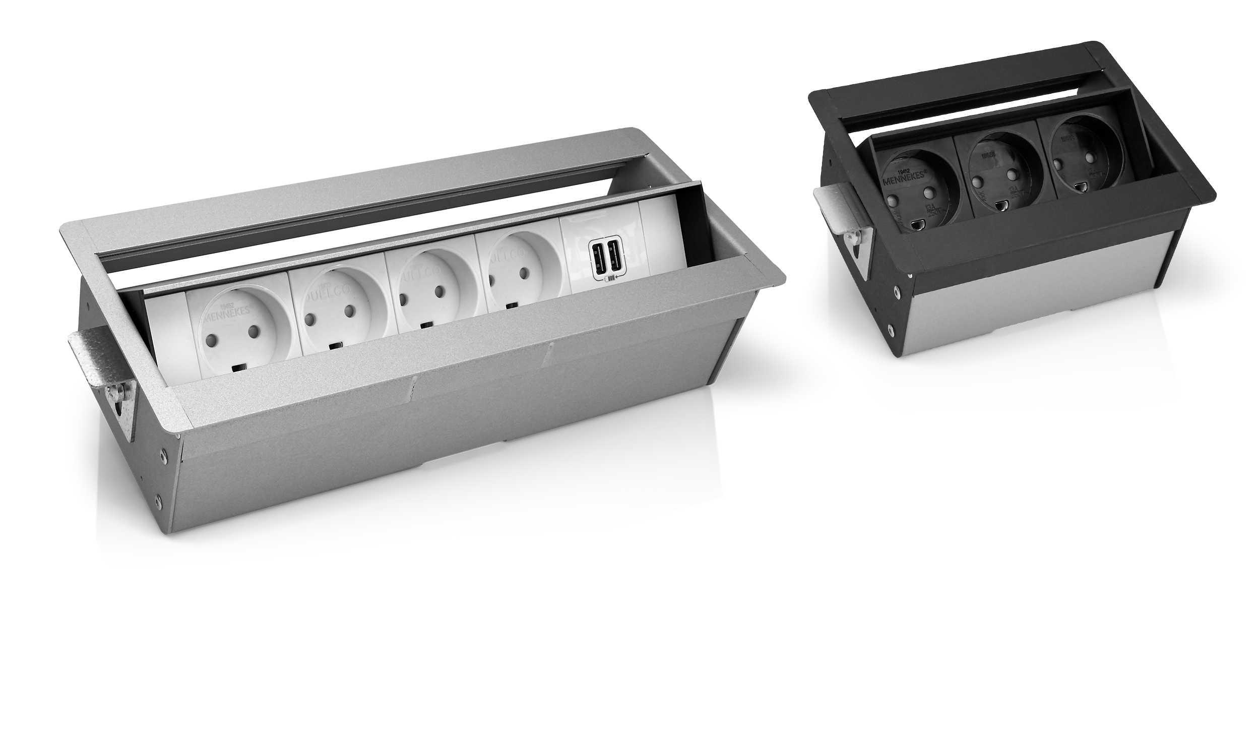 Office Solutions Duelco Frame With Components And Electric Wiring Isolated On White Reliable Power Data Connections Are A Must For Every Workplace At Desks Meeting Tables Reception Or In The Lounge