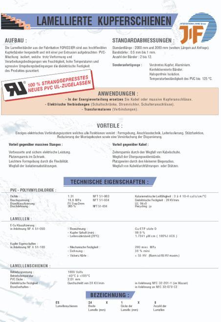 Jitex data sheet in German