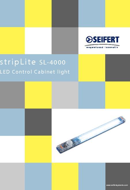 Siefert led lyskontrol til skabe brochure