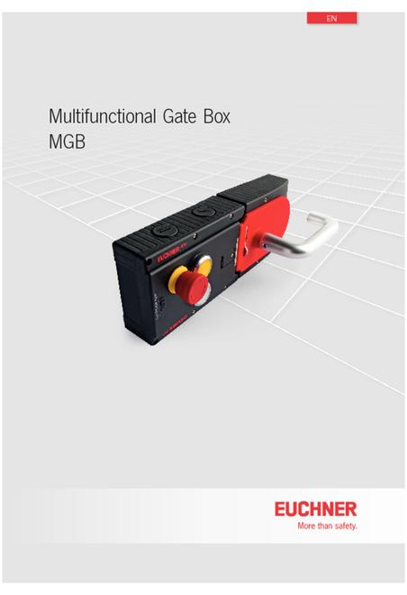 Euchner MGB products catalogue