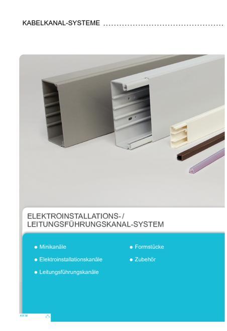 Kleinhuis Elektroinstallations og ledningsføringssystem brochure