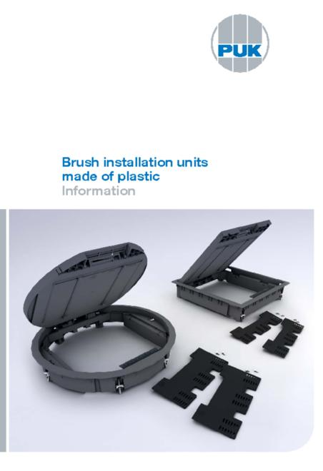 PUK Brush installation units made of plastic brochure