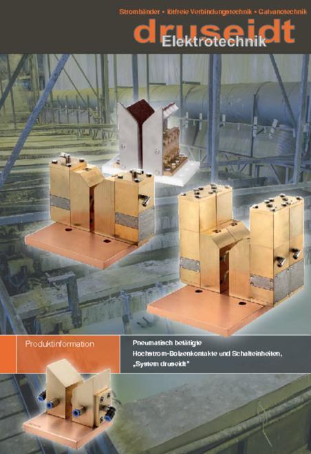 Druseidt Pneumatisch betätigte Hochstrom-Bolzenkontakte und Schalteinheiten brochure