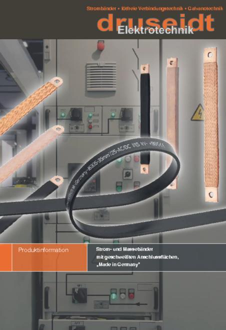 Druseidt Strom- und Massebänder mit geschweissten Anschlussflächen brochure