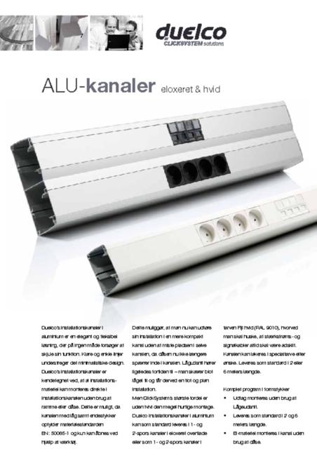 Duelco alu. channels