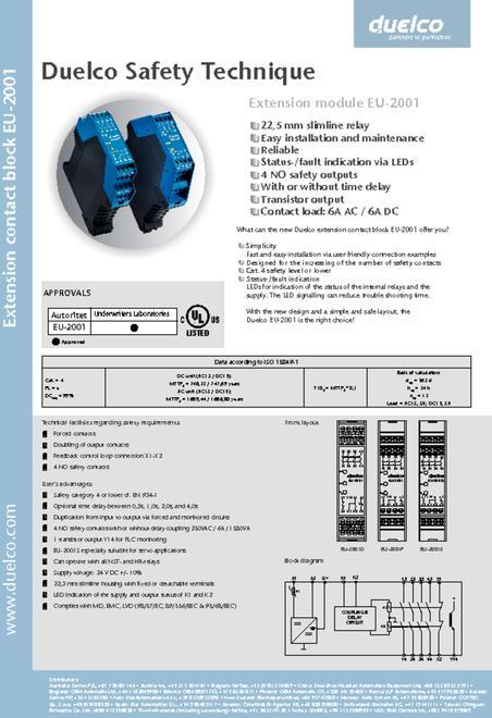 Duelco EU-2001 data sheet