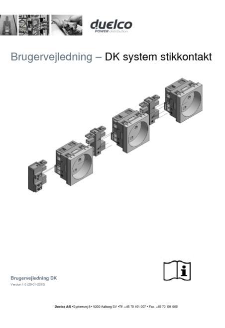 Technical data sheet danish socket outlet