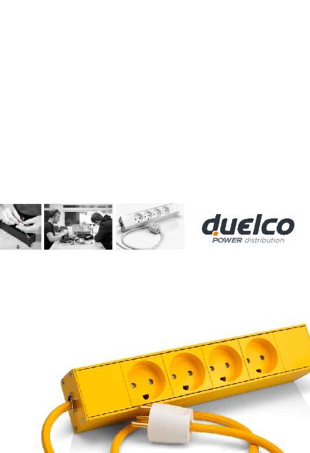 Duelco stikdåse oversigtsbrochure