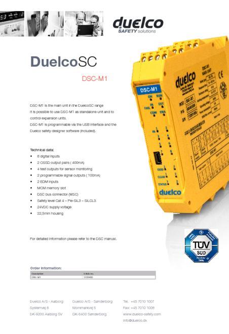 Duelco DSC-M1 flyer