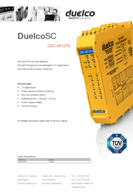 Duelco DSC-MI12T8 data sheet