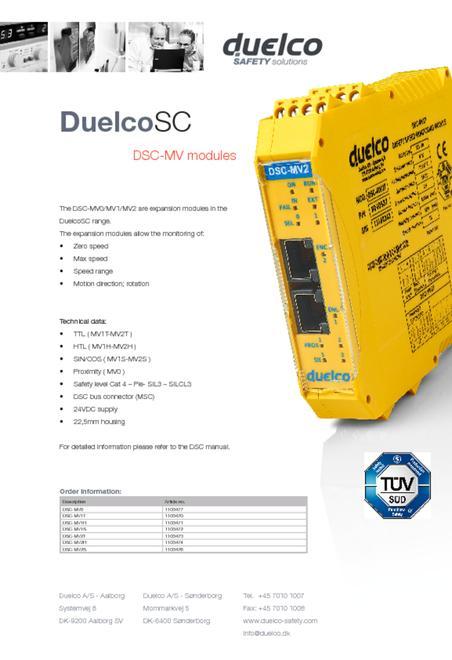 Duelco DSC-MV flyer