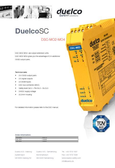Duelco DSC-MO2-MO4 flyer