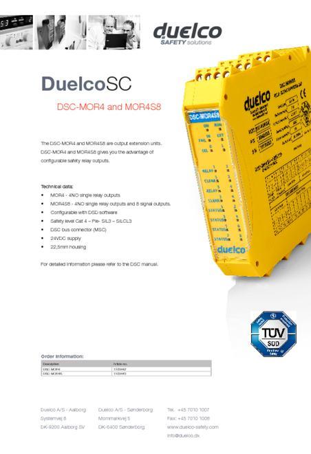Duelco DSC-MOR4-MOR4S8 flyer
