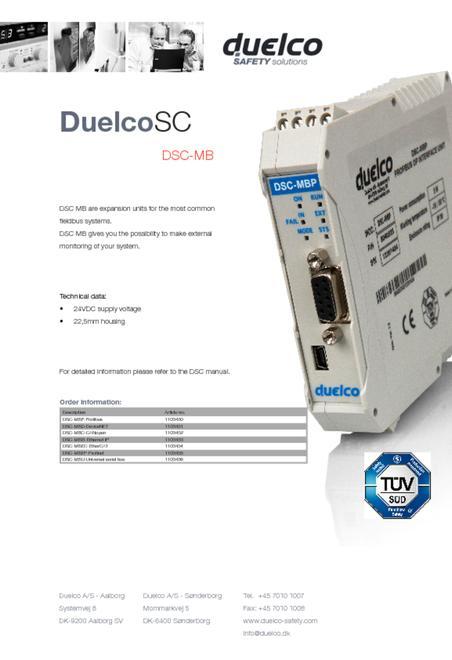 Duelco DSC-MB flyer