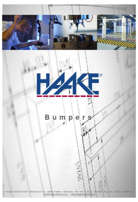 Haake bumpers catalogue