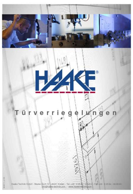 Haake HST mechanical lock catalogue