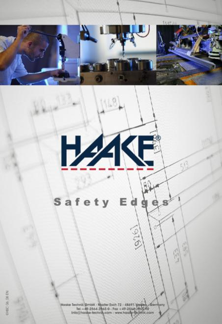 Haake safety edges catalogue